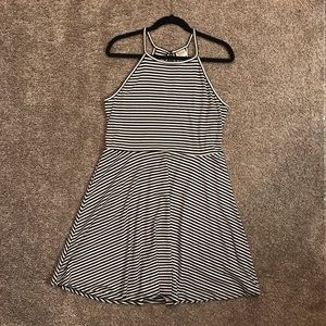 Mossimo Black and White Striped Dress-Size: XL